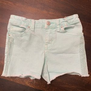 Cute Mint Colored Jeans Girls Shorts